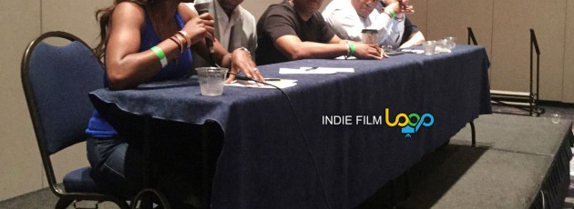 Business of filmmaking and film panel at the Indie Loop Conference at the Cobb Galleria in Atlanta Georgia